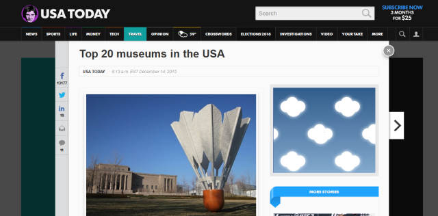 top 20 museums