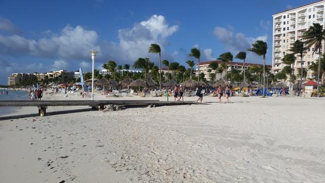Caribbean Hotel Sea Aruba Island Beach