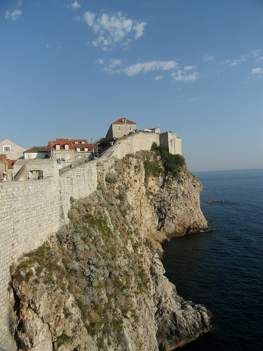 Dubrovnik Adriatic Sea Croatia Old Town City Wall